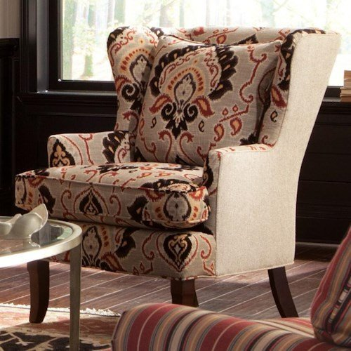Traditional Living Room Upholstered Chairs Lovely Craftmaster Accent Chairs Traditional Upholstered Wing Chair with Track Arms and Exposed Wood