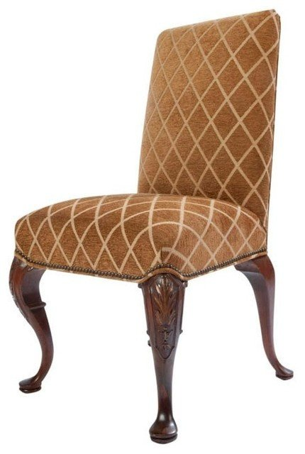 Traditional Living Room Upholstered Chairs New Full Upholstered Queen Anne Style Side Chair Traditional Armchairs and Accent Chairs