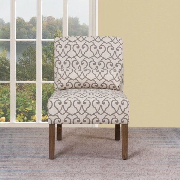 Traditional Living Room Upholstered Chairs New Shop Traditional Beige Upholstered Living Room Slipper Chair Free Shipping today Overstock