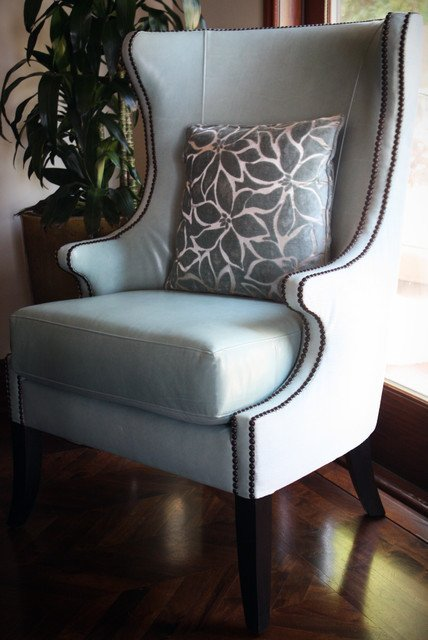 Traditional Living Room Upholstered Chairs New Upholstered Wingback Chair Traditional Living Room Los Angeles by Sara Balough Design