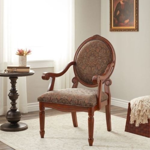 Traditional Living Room Upholstered Chairs Unique Accent Arm Chair Living Room Upholstered Floral Print Traditional Cameo Back Chairs
