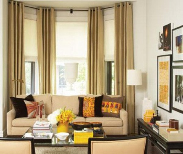 Traditional Living Room Windows Awesome Bay Window Treatment