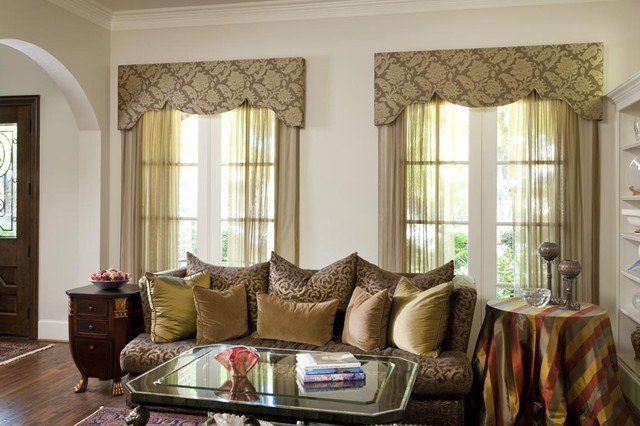 Traditional Living Room Windows Beautiful Living Room Window Treatment