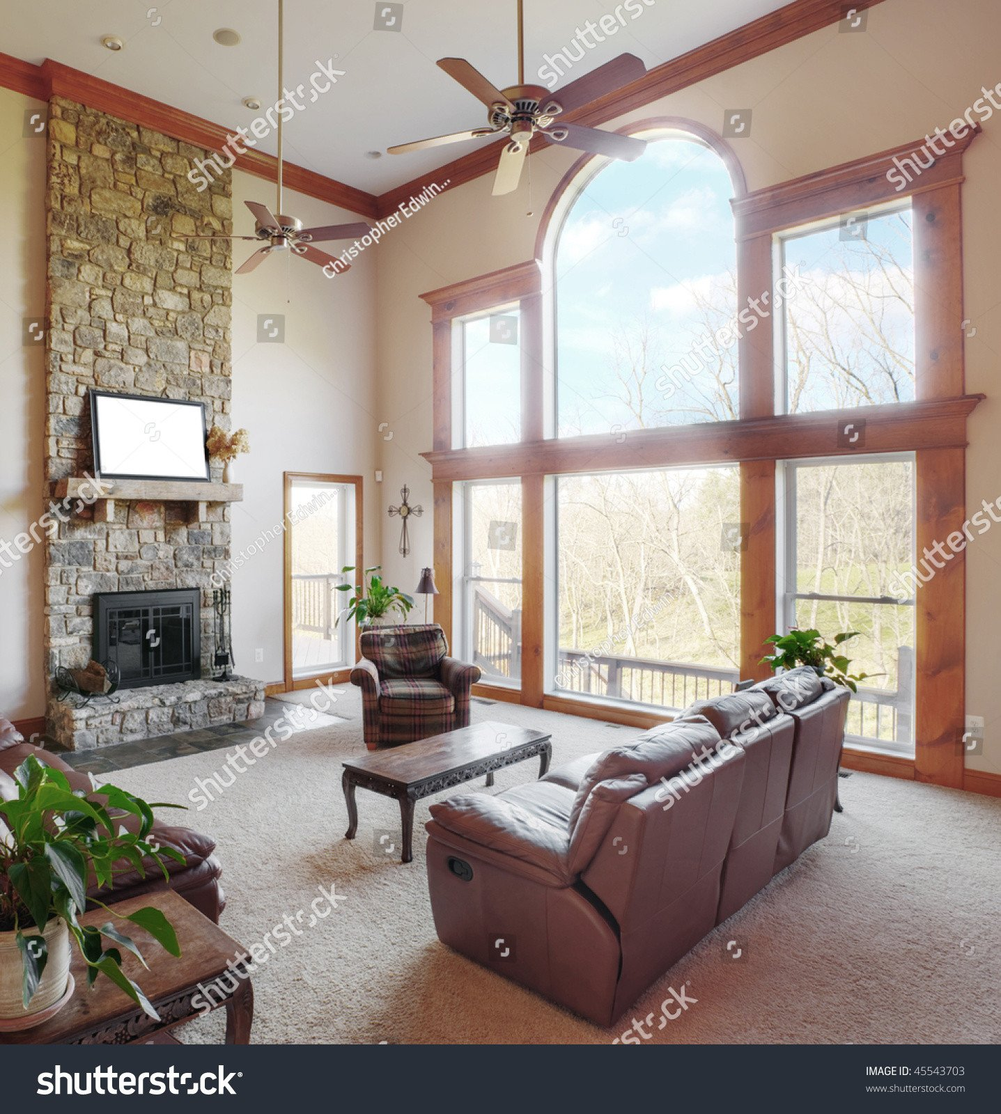 Traditional Living Room Windows Elegant Traditional Living Room Interior High Ceiling Stock Shutterstock