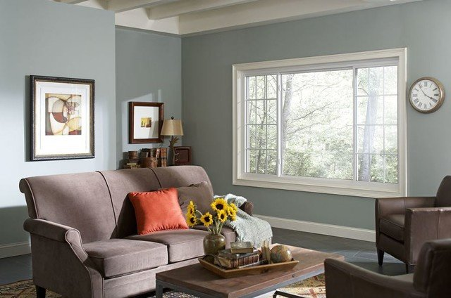 Traditional Living Room Windows Luxury Houston Bedroom with Gentek Vinyl Replacement Windows