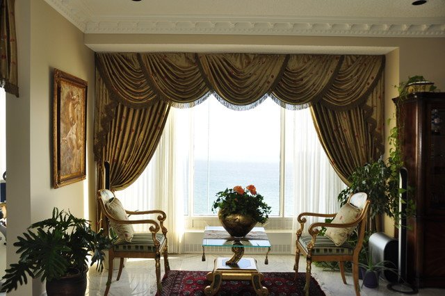Traditional Living Room Windows New Drapery Curtains and Window Coverings Traditional Living Room by Stanton Interiors