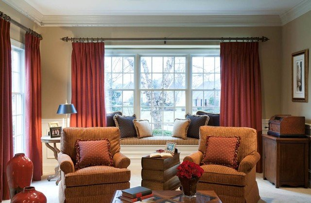 Traditional Living Room Windows New Living Room Redesign Bay Window Traditional Living Room Philadelphia by Elegant