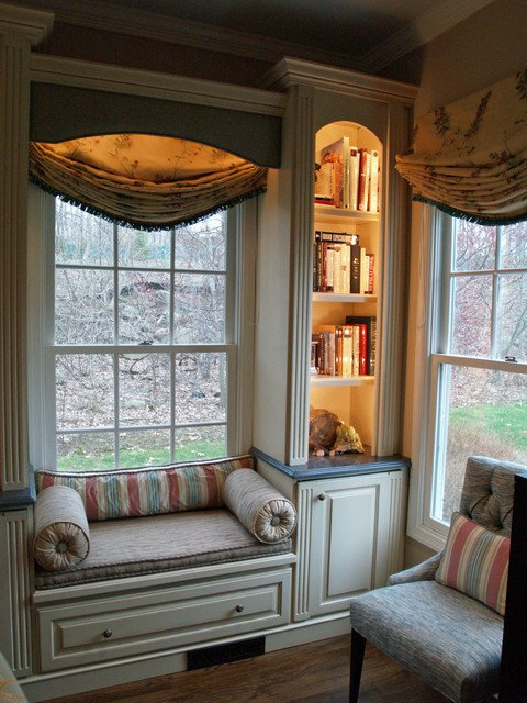 Traditional Living Room Windows Unique Window Seat Traditional Living Room New York by Falk Designs Llc
