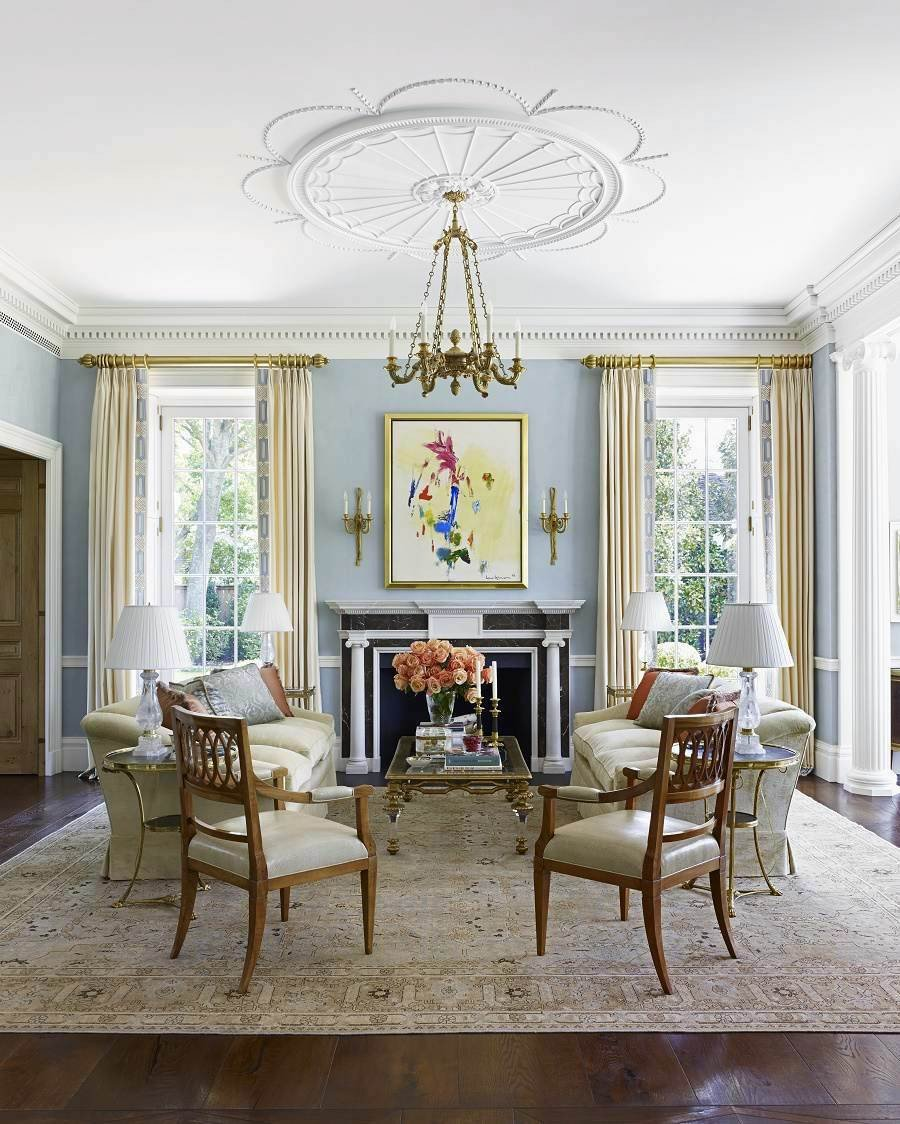 Traditional Modern Living Room Elegant Contemporary Traditional Design southern Mansion Dk Decor
