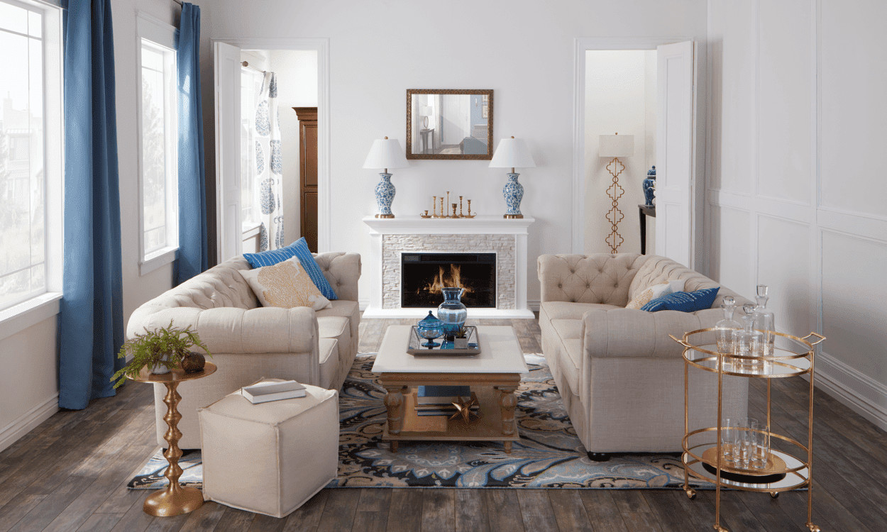 Traditional Style Living Room Elegant New Traditional An Updated Home Decor Classic Overstock