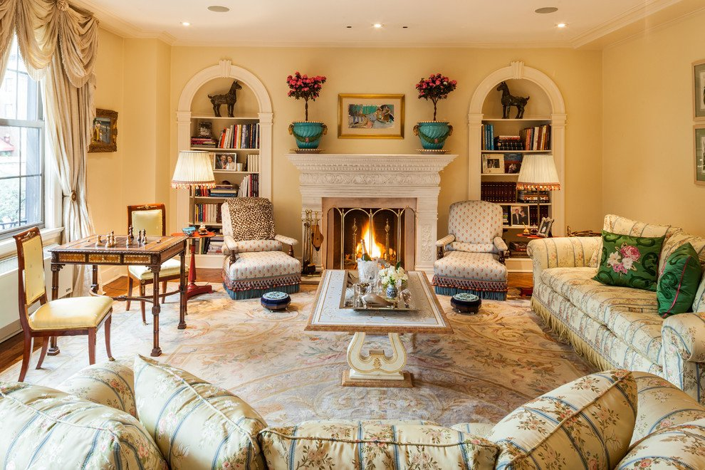 Traditional Style Living Room New Park Avenue Apartment Shocks with Stunning Wall Mural Betterdecoratingbiblebetterdecoratingbible