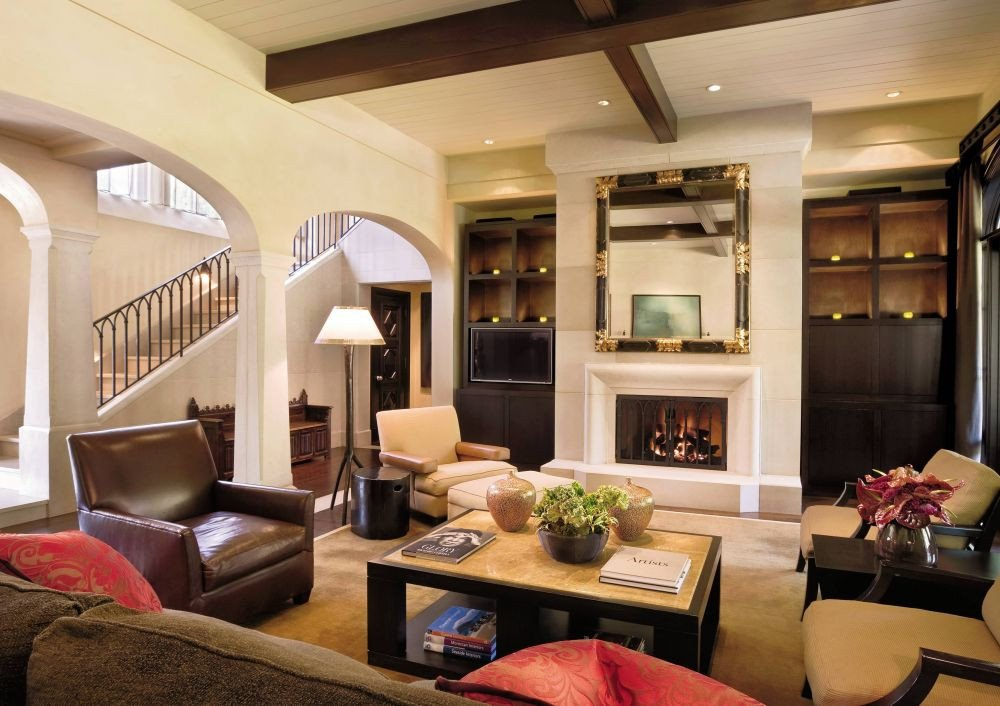 Traditional Style Living Room New Traditional Living Room by Rwm Design by Architectural Digest