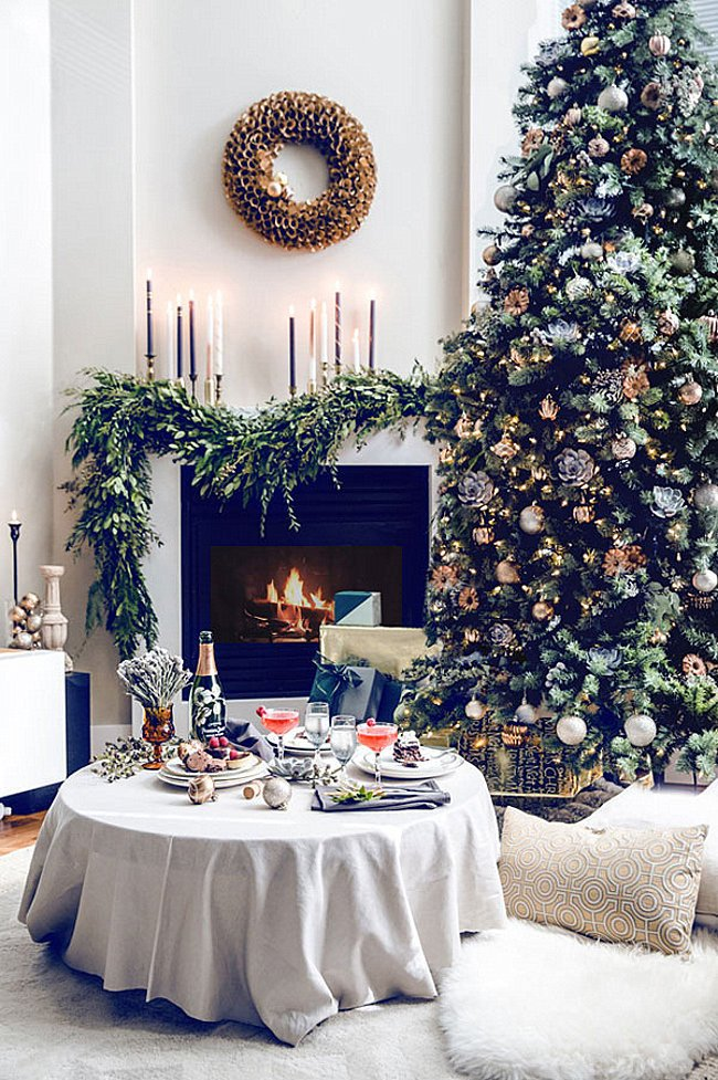 Tree Decor for Living Room Beautiful 10 Rooms with Festive Christmas Trees