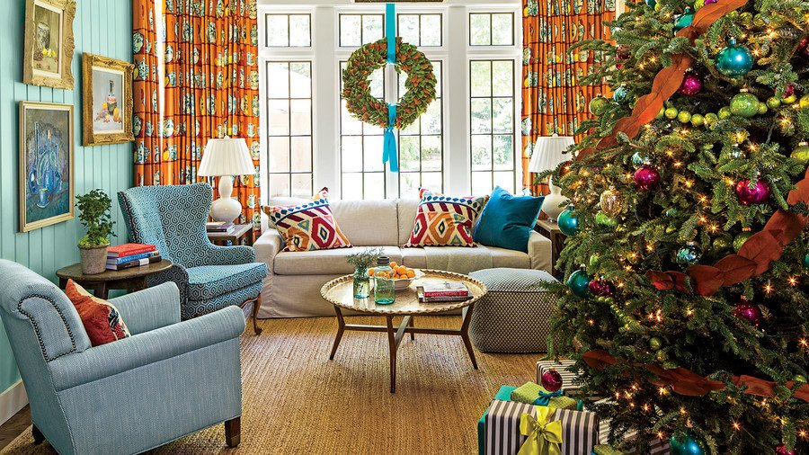 Tree Decor for Living Room Beautiful Our Favorite Living Rooms Decorated for Christmas southern Living