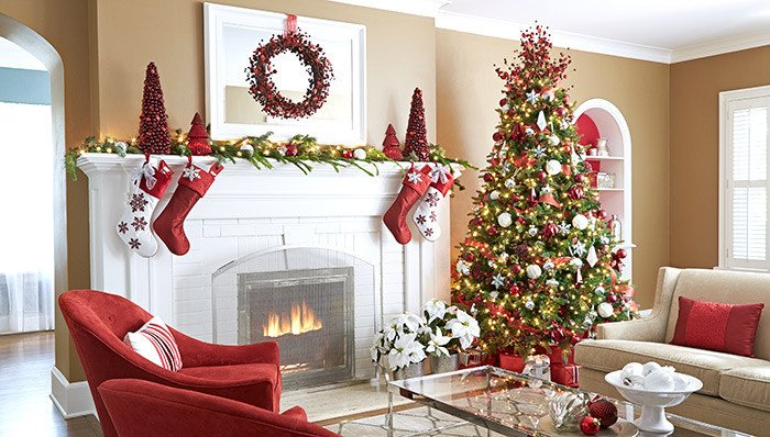 Tree Decor for Living Room New Magnificent Pre Lit Christmas Tree In Living Room Transitional with Next to Valspar Timber Dust