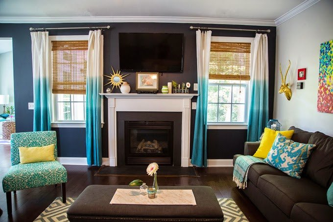 Turquoise and Brown Home Decor Beautiful Our Current Obsession – Turquoise Curtains