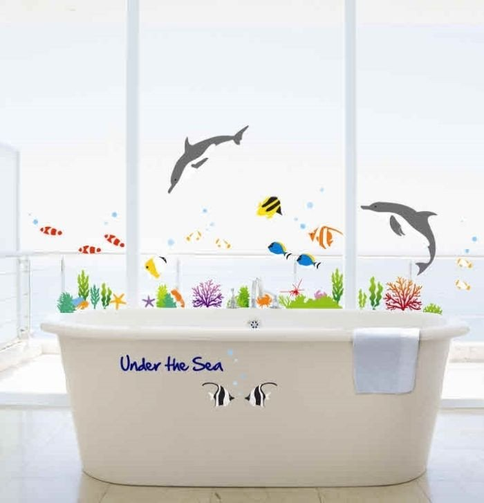 Under the Sea Bathroom Decor Best Of Under the Sea Bathroom Decor Dolphin&fish Wall Stickers Kids Bedroom Vinyl Paper