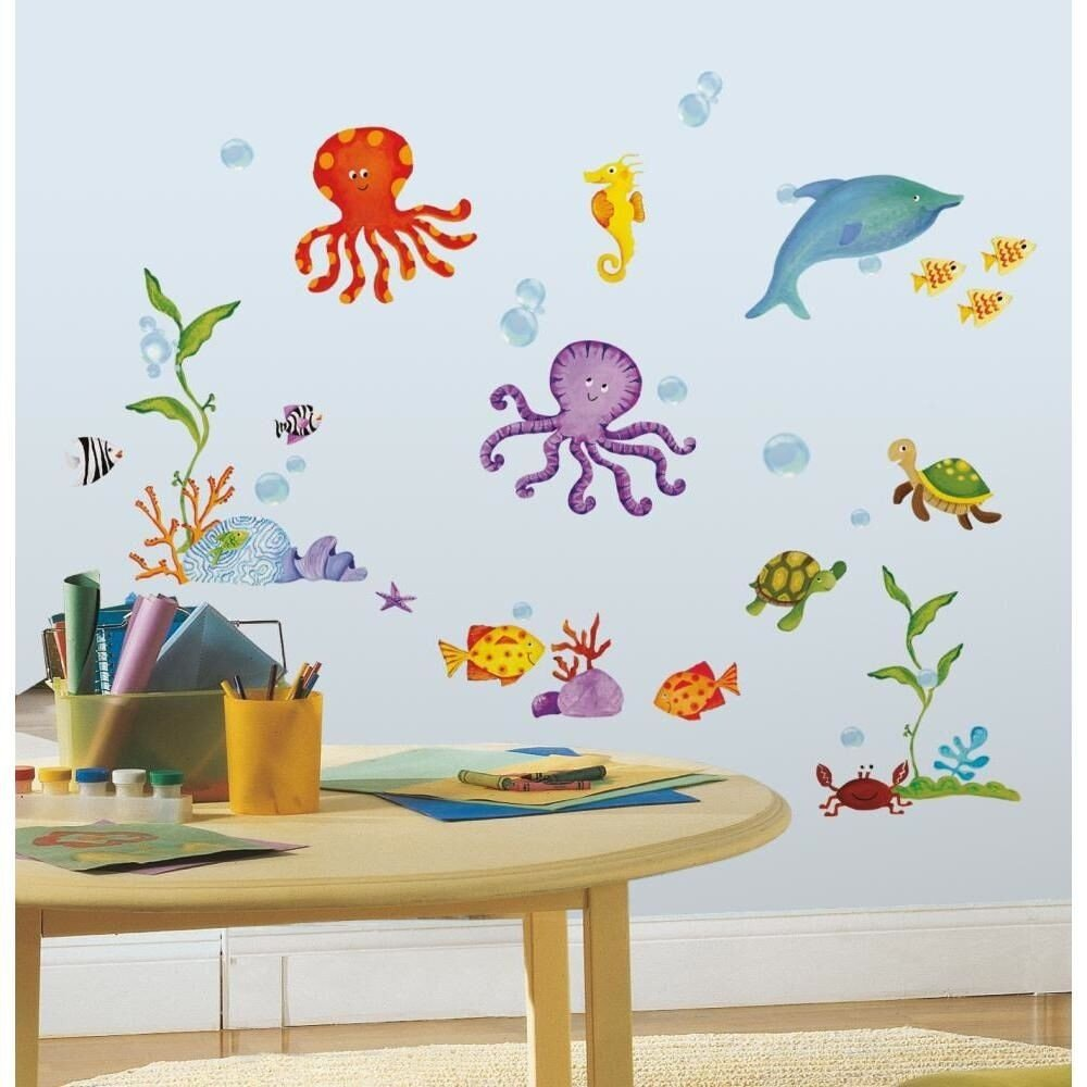 Under the Sea Bathroom Decor Luxury 60 New Adventure Under the Sea Wall Decals Stickers Ocean Animals Bathroom Decor