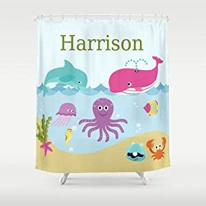 Under the Sea Bathroom Decor Luxury Amazon Under the Sea Personalized Shower Curtain Children S Bathroom Decor