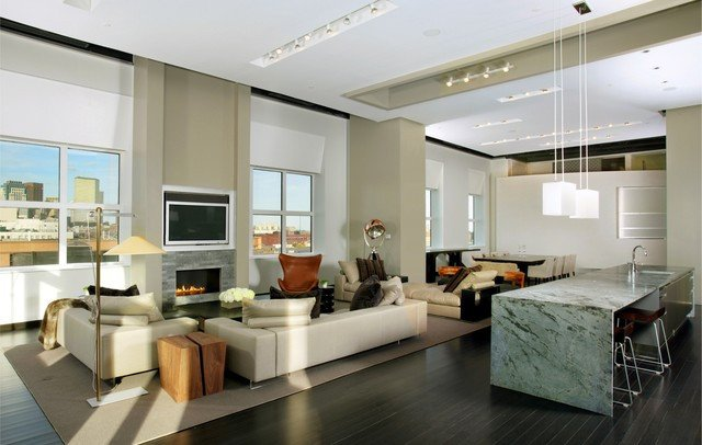 Urban Contemporary Living Room Fresh Urban Living Xxl Contemporary Living Room Boston by Ruhl Walker Architects