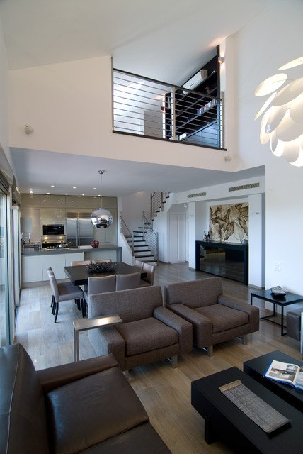 Urban Contemporary Living Room Luxury An Urban Penthouse