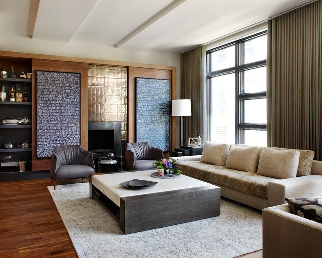 Urban Contemporary Living Room New Urban Chic Contemporary Living Room Chicago by Morgante Wilson Architects