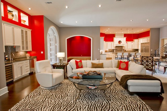 Vintage Contemporary Living Room Beautiful Modern Retro Interior Contemporary Living Room