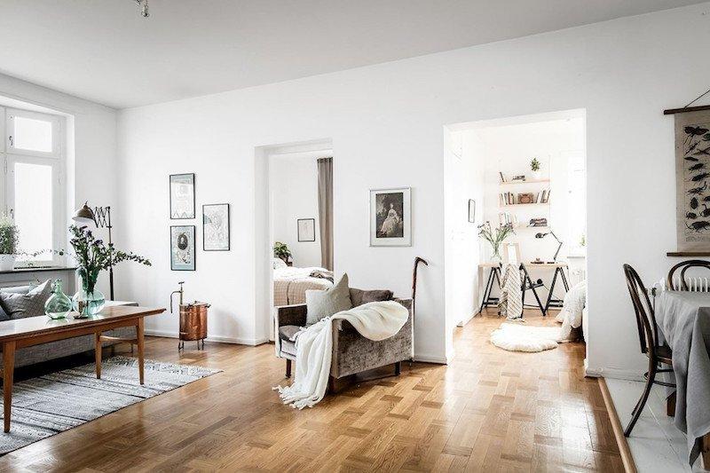Vintage Contemporary Living Room Beautiful Modern Vintage Interior Design In Swedish Apartment
