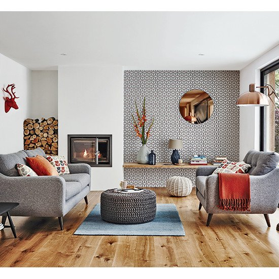 Vintage Contemporary Living Room Elegant Get A Retro Scandi Look On A Bud