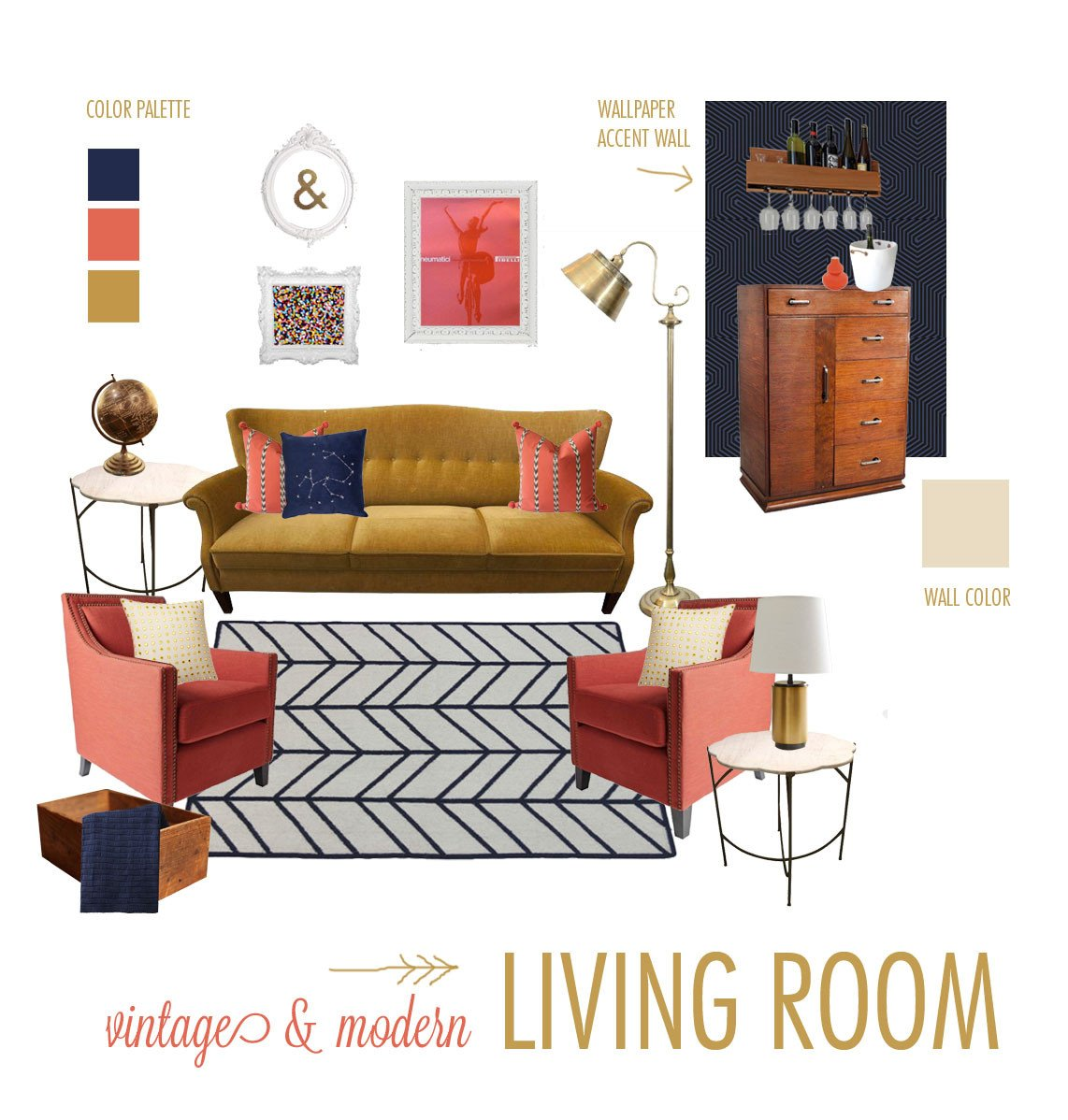 Vintage Contemporary Living Room Elegant Style Board Challenge Vintage and Modern Living Room