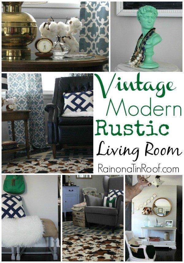 Vintage Contemporary Living Room Elegant Vintage Modern Rustic Living Room