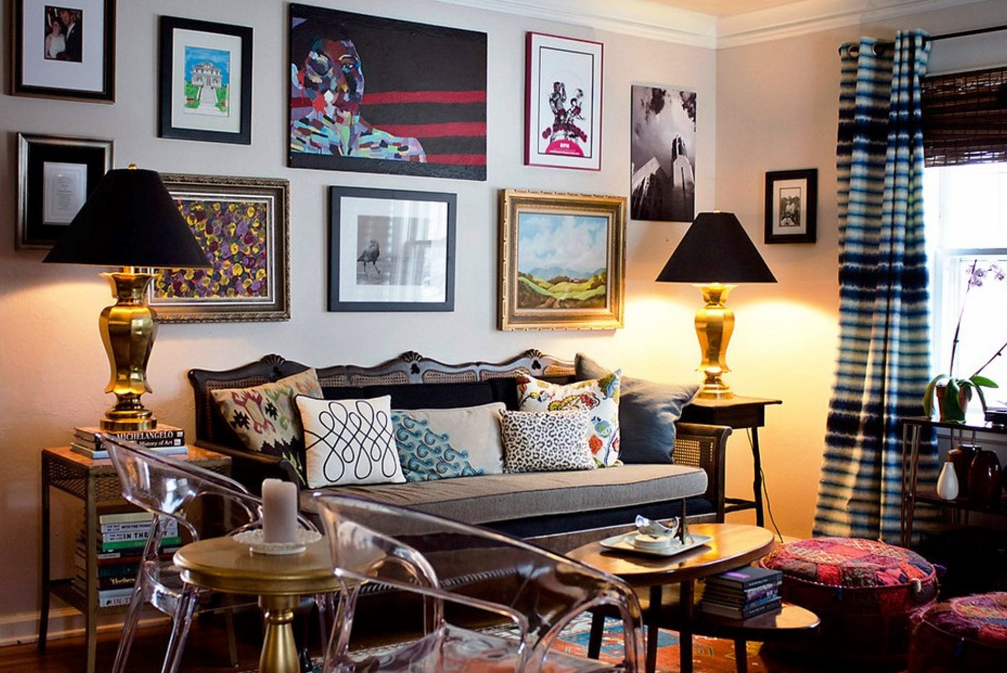 Vintage Contemporary Living Room Lovely Modern Eclectic Home Decor