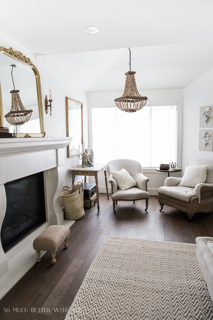 Vintage Living Room Decorating Ideas Unique Decor Tips A Fireplace Makeover Burlap Projects & More