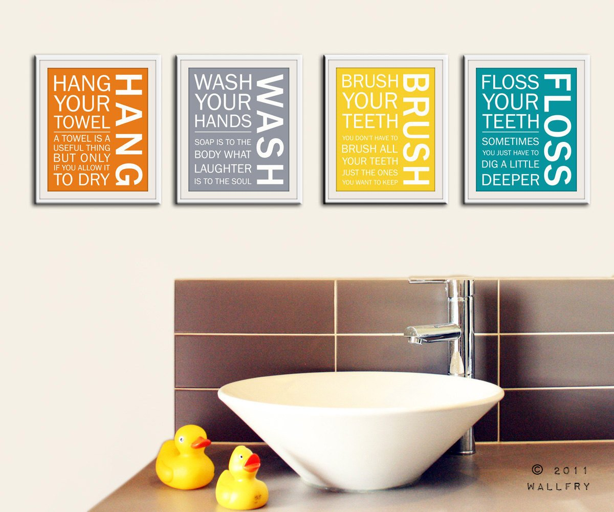 Wall Art for Bathroom Decor Beautiful Bathroom Art Prints Bathroom Rules Kids Bathroom Wall