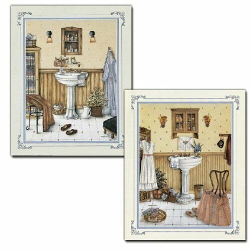 Wall Art for Bathroom Decor Elegant 2 His Her Vintage Bathroom Art Prints Bath Wall Decor 8x10 Framed Mounted Poster