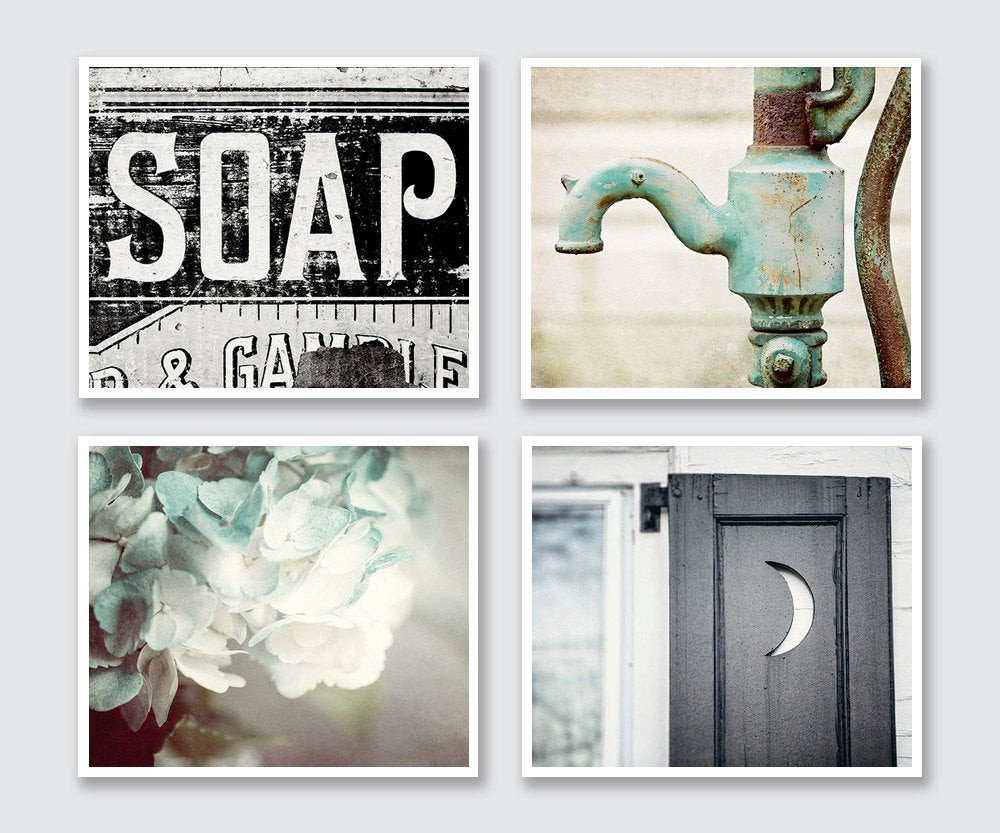 Wall Art for Bathroom Decor Elegant Rustic Bathroom Decor Set Of 4 Prints or Canvas Art Bathroom