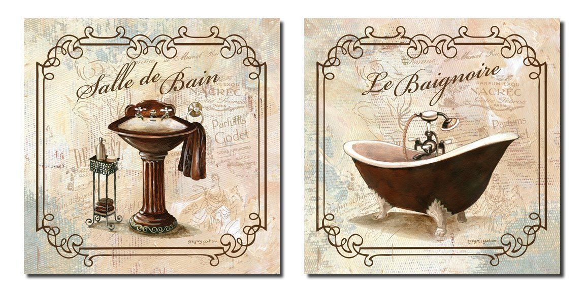 "Wall Art for Bathroom Decor Fresh Bathroom Wall Art Bath Decor Canvas Posters Decorating Vintage 12""x12"""