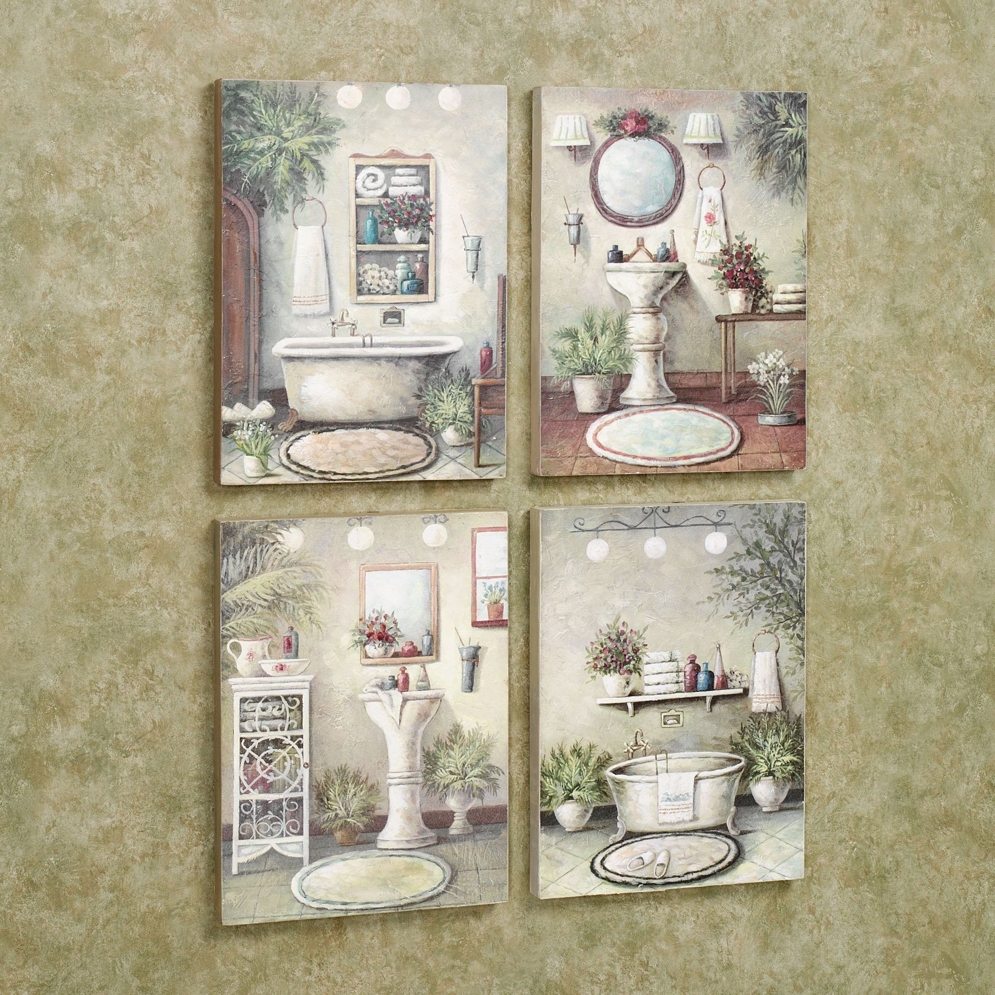 Wall Art for Bathroom Decor Lovely Bathroom Bliss Wooden Wall Art Plaque Set