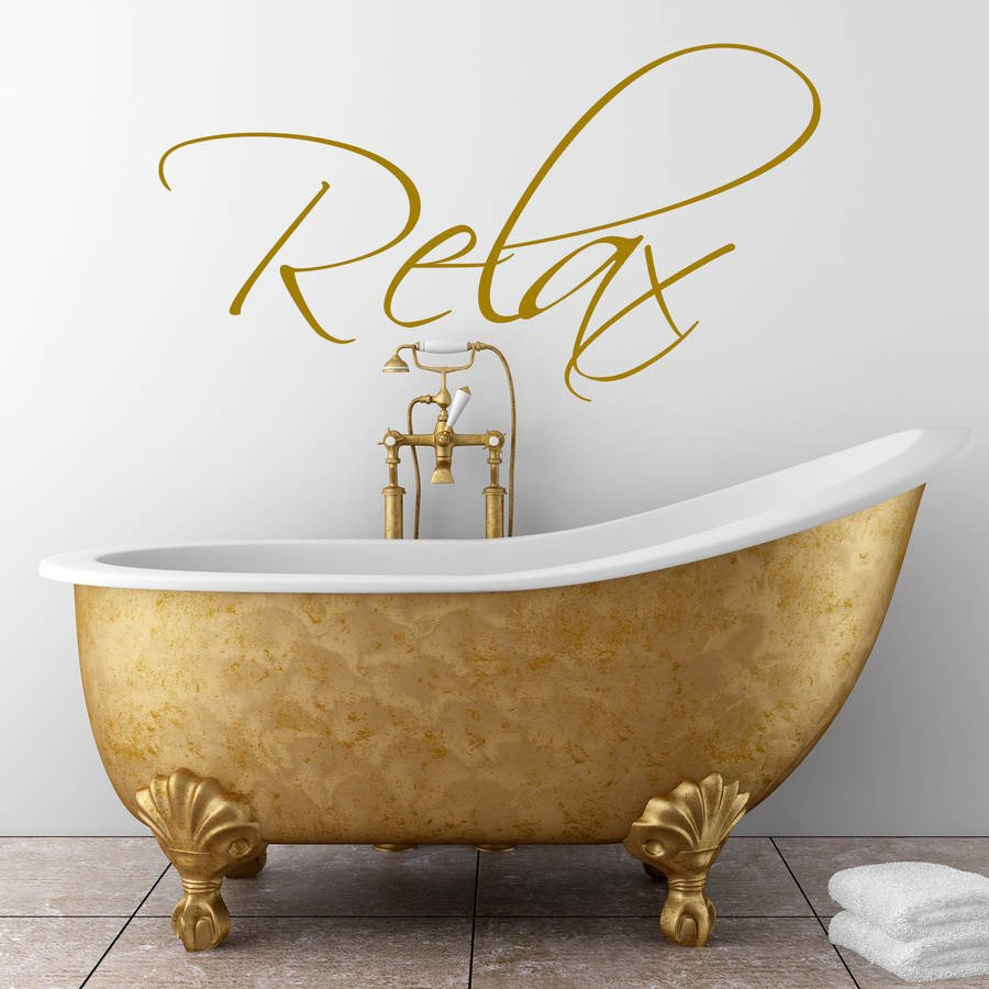 Wall Art for Bathroom Decor New Bathroom Wall Art Sticker by Wall Art Quotes & Designs by Gemma Duffy