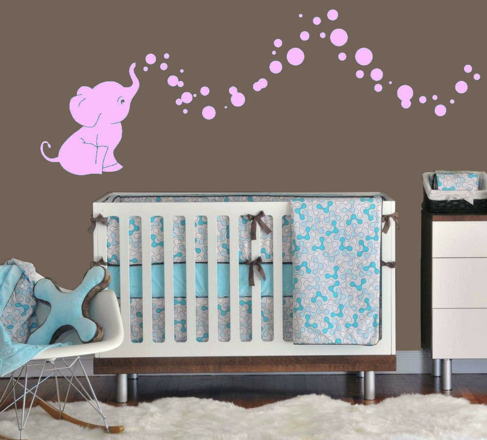 Wall Decor for Baby Room Luxury Elephant Bubbles Baby Wall Decal Vinyl Wall Nursery Room Decor 15 Colors