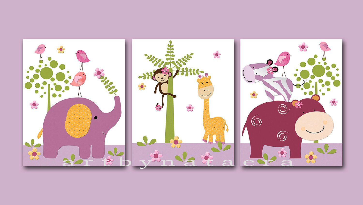 Wall Decor for Baby Rooms New Kids Wall Art Baby Girl Room Decor Baby Girl Nursery Art Set