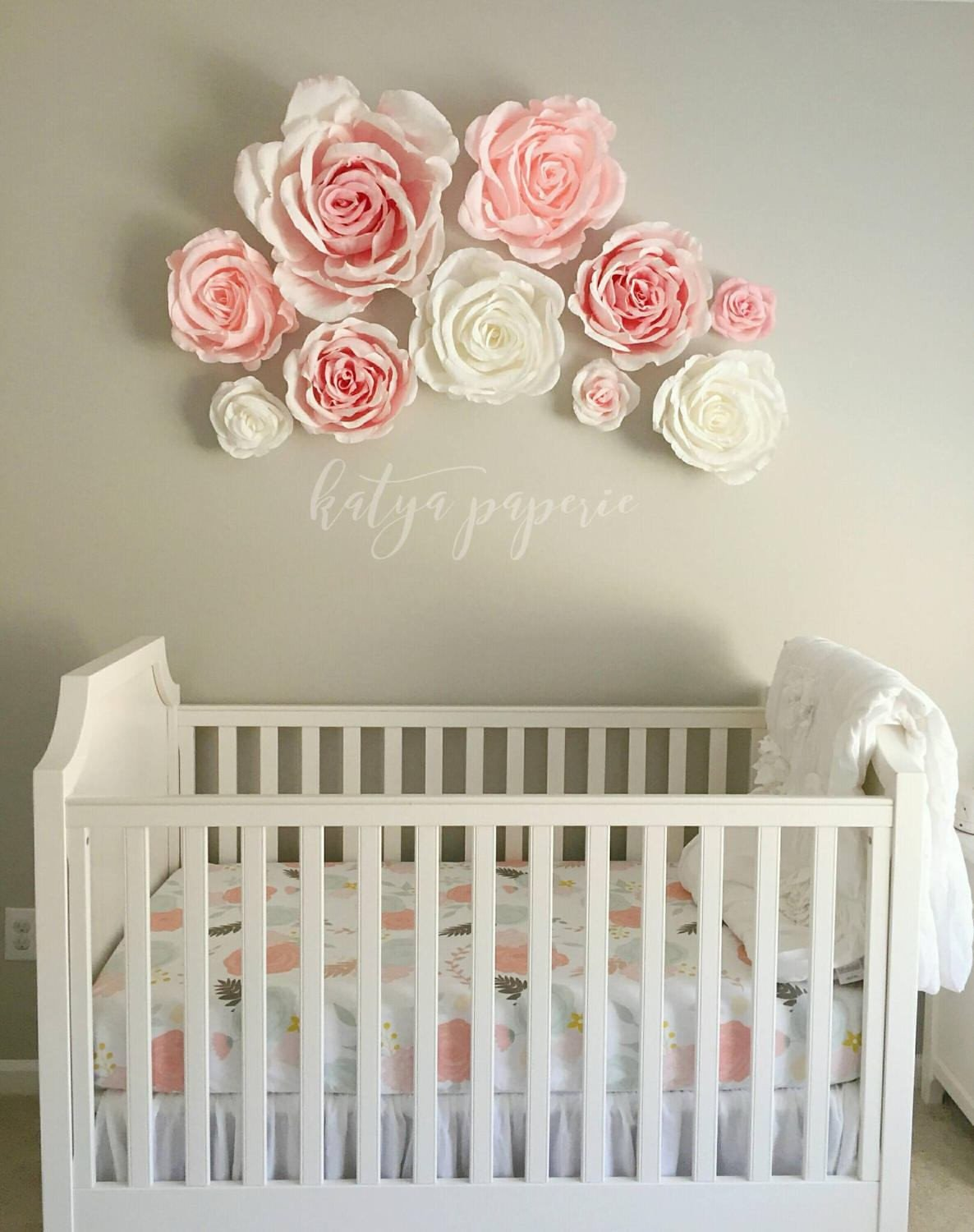 Wall Decor for Baby Rooms Unique Nursery Wall Paper Flowers Paper Flower Wall Display Shop