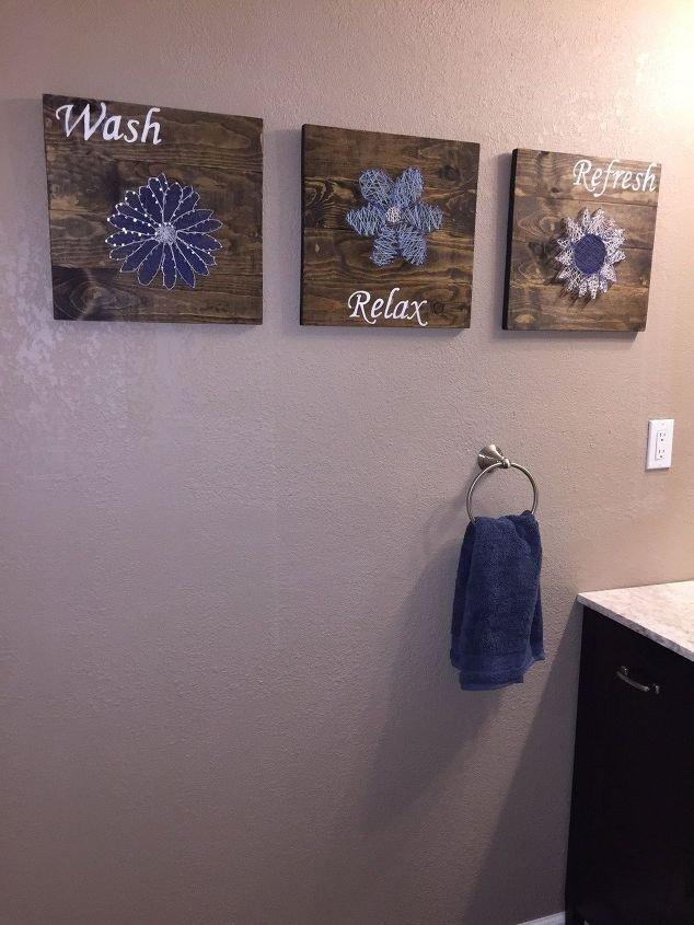 Wall Decor for Bathroom Ideas Awesome Diy Bathroom Wall Art String Art to Add A Pop Of Color