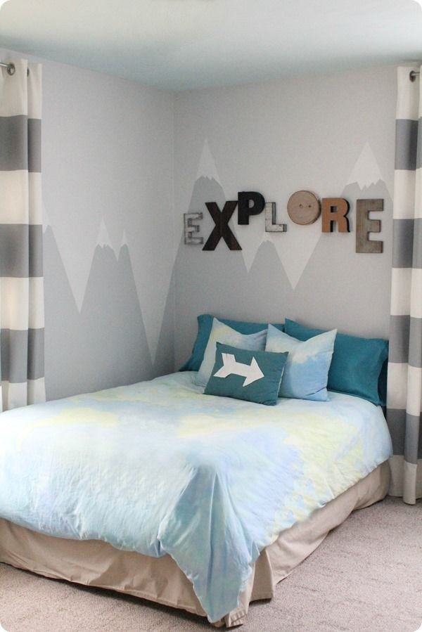 Wall Decor for Boys Room Awesome A Mountain Mural for the Little Explorer Wall Treatments
