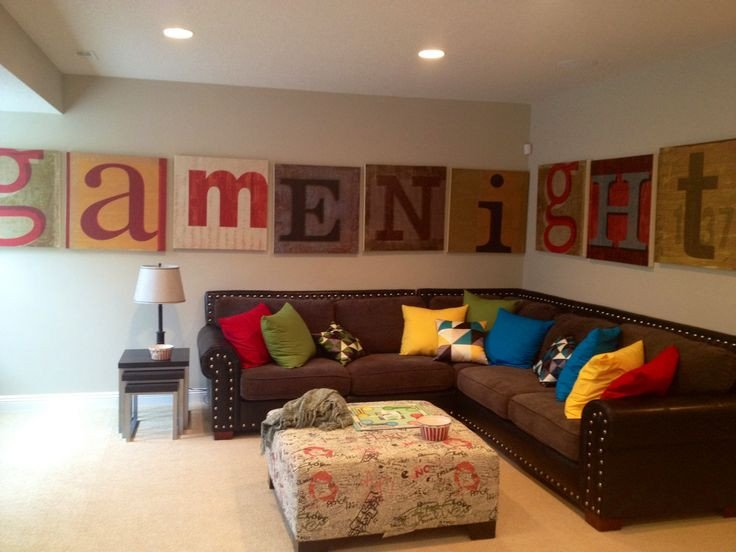 Wall Decor for Family Room Inspirational Fun Family Room