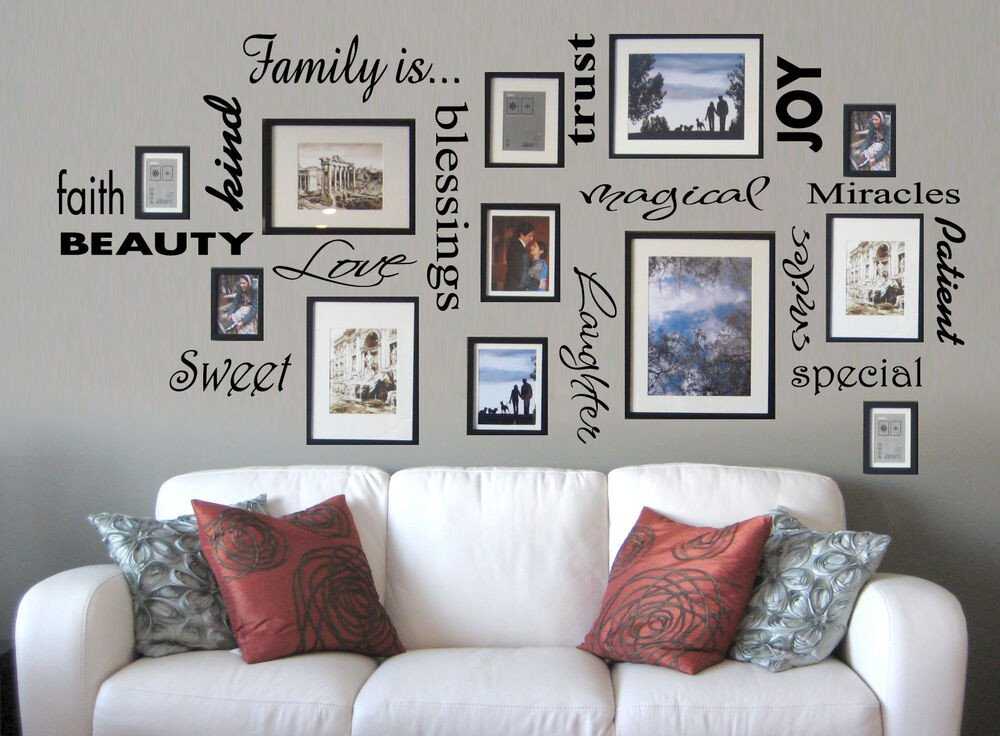 Wall Decor for Family Rooms Awesome Vinyl Lettering Family is Sticky Word Quote Wall Art Decor Family Room