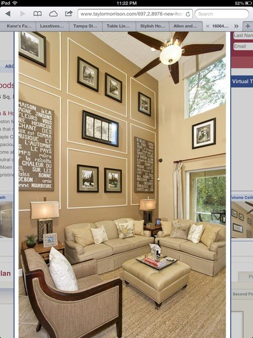 Wall Decor for Family Rooms Beautiful Decorating A Two Story Room