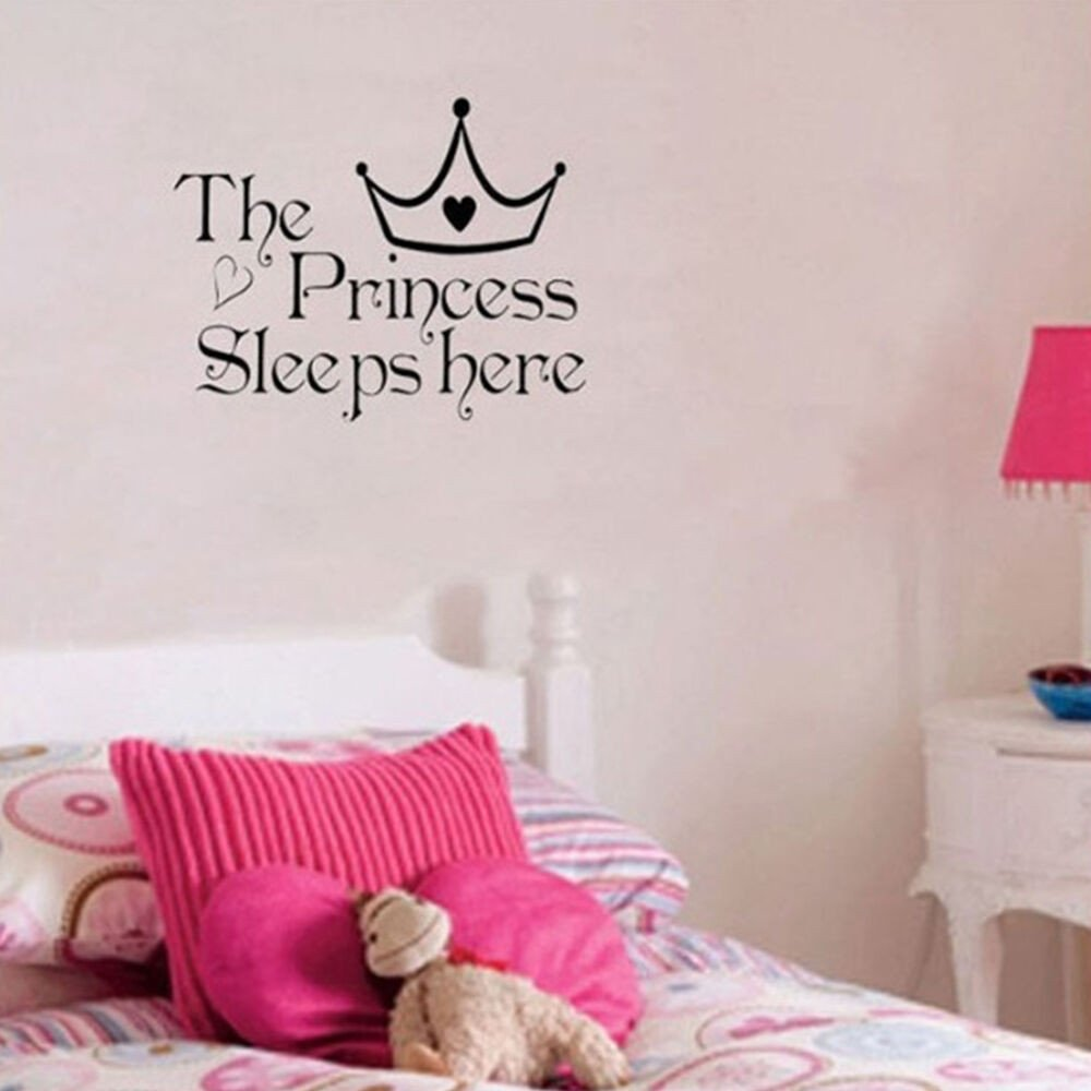 Wall Decor for Girls Bedroom Elegant Nice Princess Removable Wall Sticker Girls Bedroom Decor Baby Room Decal Art