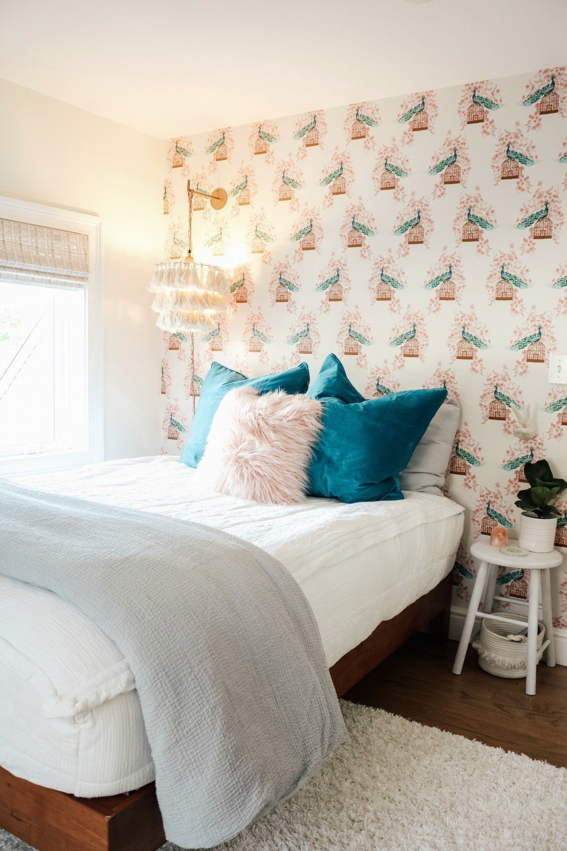 Wall Decor for Girls Bedroom Luxury Small Girls Bedroom Makeover with Wallpaper Accent Wall Nesting with Grace