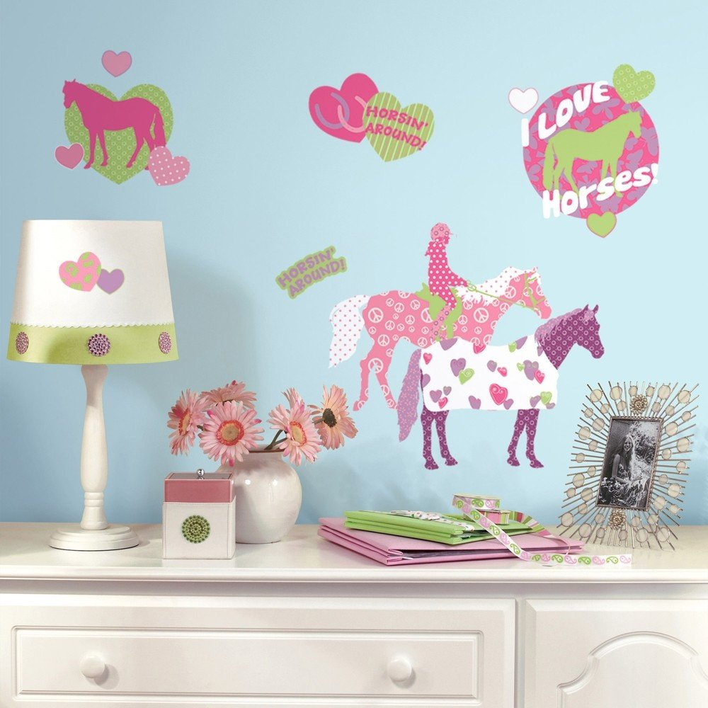 Wall Decor for Girls Bedroom New 44 New Horse Crazy Wall Decals Girls Horses Stickers Pink Bedroom Decor